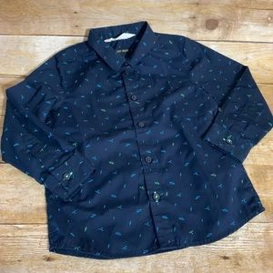 H&M easy iron 4/5 years space long sleeve dressy